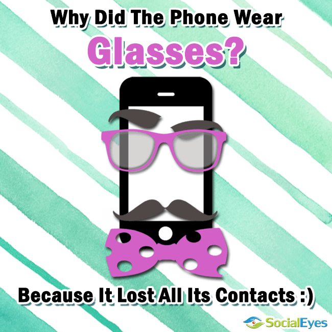 This is a very cool little eyeglasses joke that you will love. please share it for all your friends to se.. Thanks.… continue reading •••