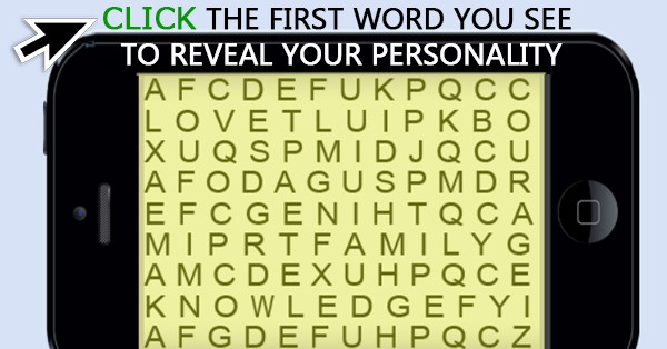 Word Search Personality Quiz