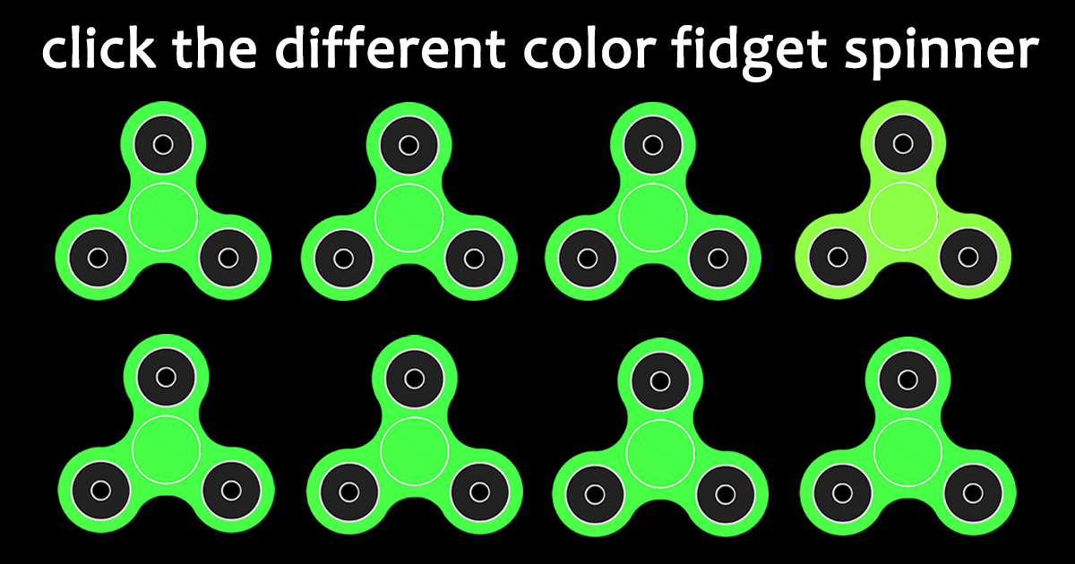 This is a fun little color test to see how well your eyes differentiate between subtle color variations in Fidget Spinners. Let's see how your eye's stack up against the… continue reading •••