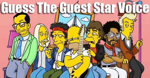 Guess The Celebrity Simpsons Guest Star Voice