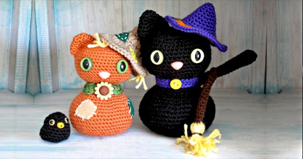 Amigurumi Halloween Black Cat Free Crochet Pattern Socialeyes